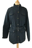 Crew Clothing Womens Size 16 Jacket Blue Padded Quilted Warm Sherpa Lined