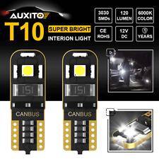 SUPER WHITE LED BULB CAR INTERIOR LIGHT CANBUS ERROR FREE T10 501 194 168 W5W X2