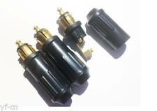 1pc Cigarette Lighter Socket Hella Merit Male Plug GSG-1H 12V-24V Black