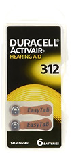 Hearing Aid Batteries Size 312 pack 60 batteries Duracell Hearing Accessories