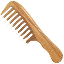 Large Wood Comb Unisex Natural Handmade Green Sandalwood Wide Tooth Pro