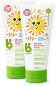 Lot of 2 Babyganics SPF 50 Baby Sunscreen Lotion UVA UVB Protection Exp 12/21