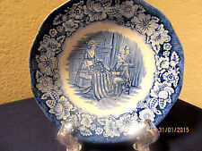 "STAFFORDSHIRE  ""LIBERTY BLUE"" 9 FRUIT BOWLS (BETSY ROSS)  $72 VALUE"