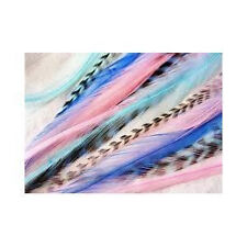 Feather Hair Extension Mermaid Grizzly Remix 4-7 Feathers for Hair Extension Inc