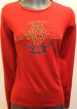 Ralph Lauren Women's Long Sleeve Red Shirt Blouse
