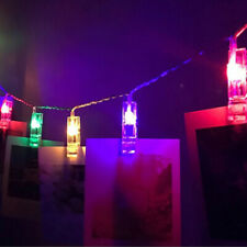 LED Photo Fairy Lights 20 Clips Brackets Photo Clip String Light Mood Light CJ