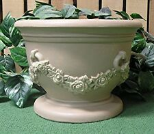 Italian Rose Garland Vase Planter Urn Latex Fiberglass Production Mold Concrete