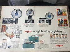1950'S MAGAZINE ADVERTISEMENT PAGE ARGUS CAMERA C-3 C-4 XMAS ADS
