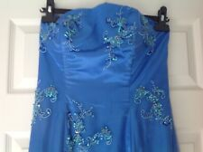 Beautiful Prom / Ball Gown Royal blue beaded boned fishtail maxi dress