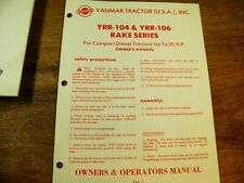 Yanmar Model Yrr 104 Yrr 106 Rake Owners Manual