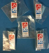 5 Lot Rare COA 2010 Vancouver Olympic Games Candidate City Jacket Lapel Hat Pins