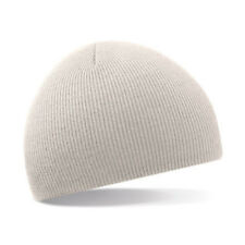b51f427e0ce Adults Original Pull on Beanie Hat Plain Mens Womens Beechfield Bb44 Stone  One