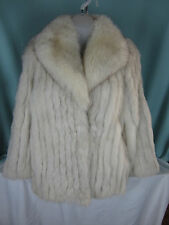 Saga Fox Fur Short  Coat Long Jacket Size Small Norway Fur Made in Korea EPOC