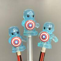 3x Blue Woolworths Disney Plus Ooshies Marvel captain american Exclusive Toy
