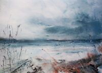 Semi Abstract Seascape / Coastal Art. Original Acrylic Painting.