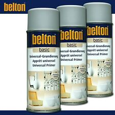Kwasny Belton basic 3 x 400 ml Universal-Grundierung Grau Spray Perfekter Grund