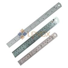 """6'' / 8"""" / 12"""" SCALE RULER SMALL/LARGE Measure Rule Metal Stainless Steel 30cm"""