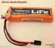 Batería Life 9.9v, 1500 mA, 1C, 3S, especial alimentacion emisoras.