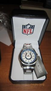 NFL INDIANAPOLIS COLTS Game Time Men's Silver  Watch Football Logo NEW IN BOX