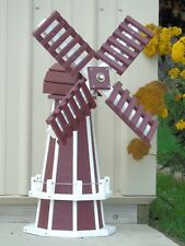 "30"" Poly Dutch Windmill (Cherry with White Trim)"