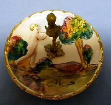 ANTIQUE CAPODIMONTE ITALY HAND MADE & HAND PAINTED PLATE HIGH RELIEF PATTERN