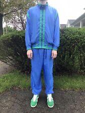 Vintage 70s 80s Full Track Suit Blue Green Hip Hop Rave Disco