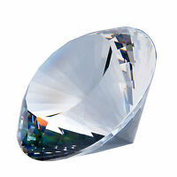 Large 120mm Crystal White Paperweight Cut Glass Giant Diamond Lady Jewelry Gifts