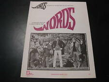 Words The Bee Gees Sheet Music 1967 Gibb RARE Photo