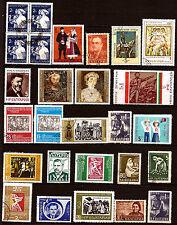 BULGARIE 1 bloc de 4 timbres et 23 timbres oblitérés sujets divers 59T5
