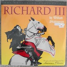 RICHARD III  Laurence Olivier  Criterion Collection no.190  Double Laserdisc NEW