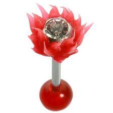 Hellfire Straight Barbell 14G 5/8 Red Uv