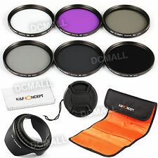 72mm ND2 ND4 ND8 ND UV CPL FLD Filter Kit Lens Hood For Sigma 18-35 17-70 18-250