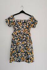 Mini Vestido ex Almacén Retro Floral Con Cinturón Vacaciones Verano Multi 6 10 12 14 16