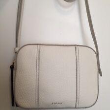 Fossil Gemma Camera Leather Crossbody Bag Coconut NWT SHB1936146 $138