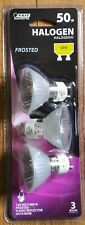 NEW! 3 PACK - FEIT ELECTRIC 50W HALOGEN FROSTED 120 VOLT FLOOD REFLECTOR BULBS