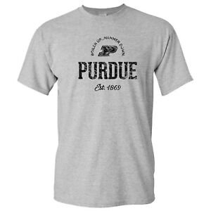 Purdue Boilermakers Established Arch Logo Men's T-Shirt - Sport Grey