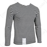 Genuine Russian Marine Telnyashka - 100% Cotton Striped Long Sleeved T-Shirt New