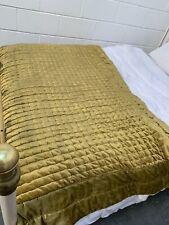 RRP £165 Harlequin Green King size bed throw Quilt over fabric velvet