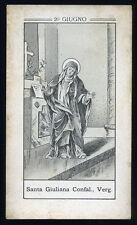 antico santino litografico- holy card S.GIULIANA FALCONIERI