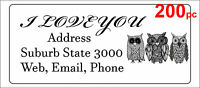 200 Personalised return address label adhesive custom sticky sticker 56x25mm