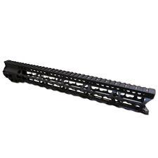 "SALE"" 17"" Inch Free Float Super Slim Keymod Black Handguard 223 556 300 BLK- USA"