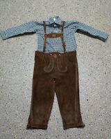 2 tlg. Jungen Kinder Trachten Set in Größe 122/128 Hemd Hose L188