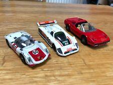 CORGI Red Ferrari 308 GTS Pop Out Lights, porsche carrera 6 + Jaguar XJR9