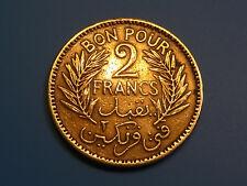 etat TUNISIE  TUNISIA  2  francs  1945