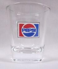 Pepsi-Cola 1973 Logo on Clear Shot Glass