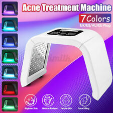 PDT 7 Color LED Light Facial Therapy Skin Rejuvenation Anti-aging Beauty