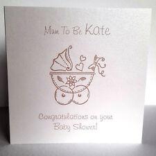 Personalised Baby Shower Mum to Be Card Congratulations Pram