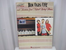Ben Folds Five and Selections from Naked Baby Photos Sheet Music Song Book