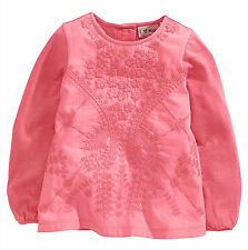 Girls' Long Sleeve Embroidered T-Shirts, Tops & Shirts (2-16 Years)
