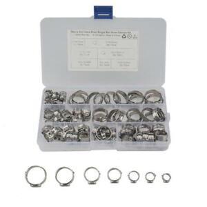 80Piece Single Ear Pinch Type Crimp Hose Clamp 5.8-21MM Assortment Kit